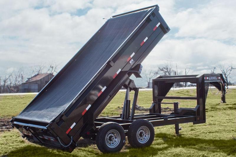 """Iron Bull Gooseneck Dump Trailer 83""""x14'"""