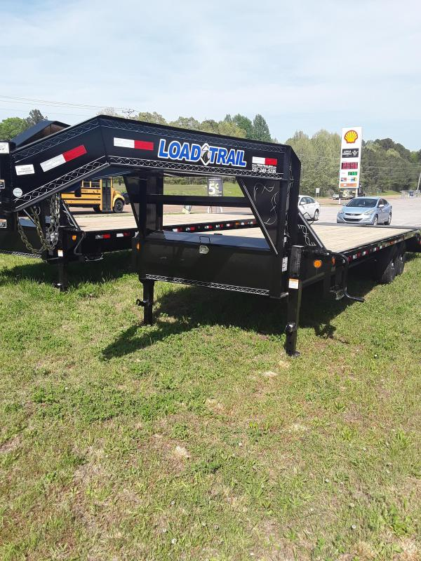 "2018 Load Trail 25' x 102"" Heavy Duty Gooseneck 2-7k Axles W/Max Ramps"