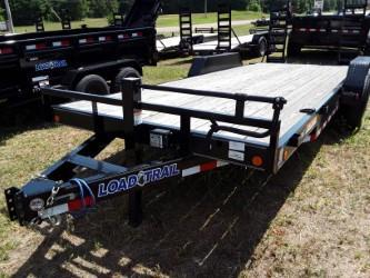 "20'x83"" Channel Equipment Trailer W/ Stand Up Ramps"