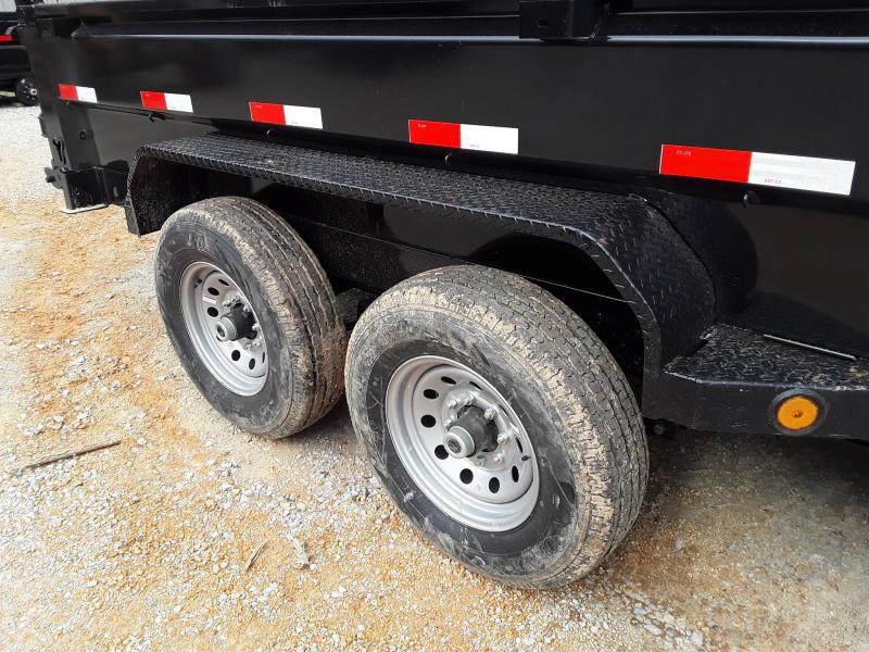 "Iron Bull Dump Trailer 83"" x 16' W/ 2-7k Axles"