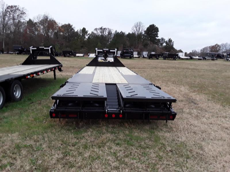 "2019 Iron Bull 25' X 102"" Flatbed Trailer W/ 2 10k Axles and Max Ramps"