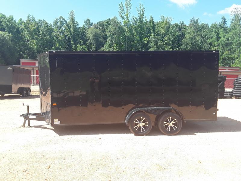 2019 Rock Solid Cargo 7' X 16'  Enclosed Cargo Trailer W Blackout Package