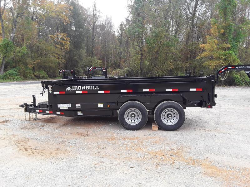 "2019 Iron Bull DUMP TRAILER 72"" X 12' W 2-7000LB AXLES"