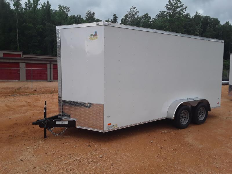 Covered Wagon 7 x 16 Tandem Axle White  in Ashburn, VA