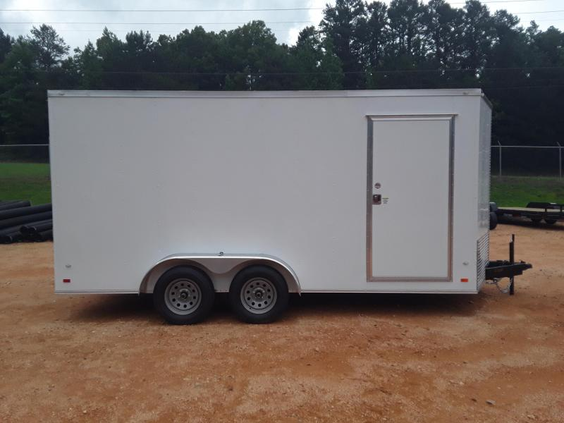 Covered Wagon 7 x 16 Tandem Axle White