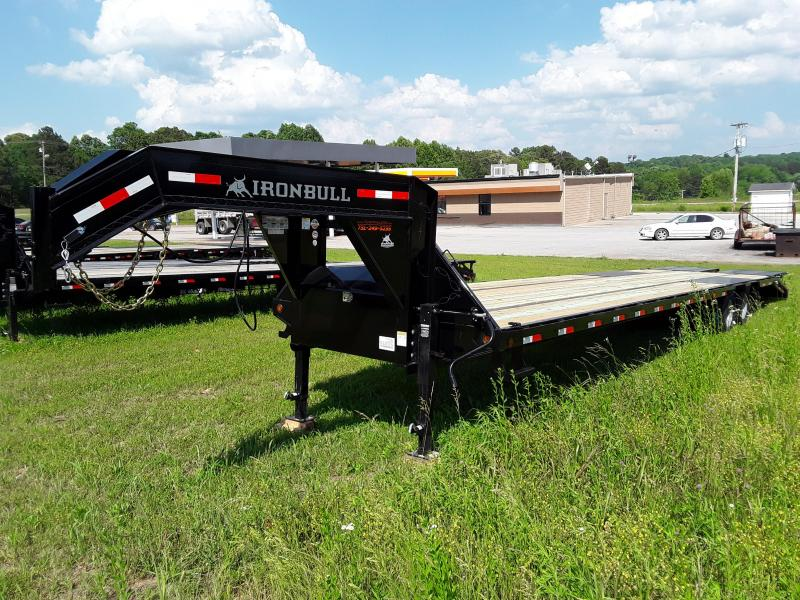 "2019 Iron Bull 102"" X 40' Gooseneck Flatbed W/2 10000 lb axles and Rampage Ramps"
