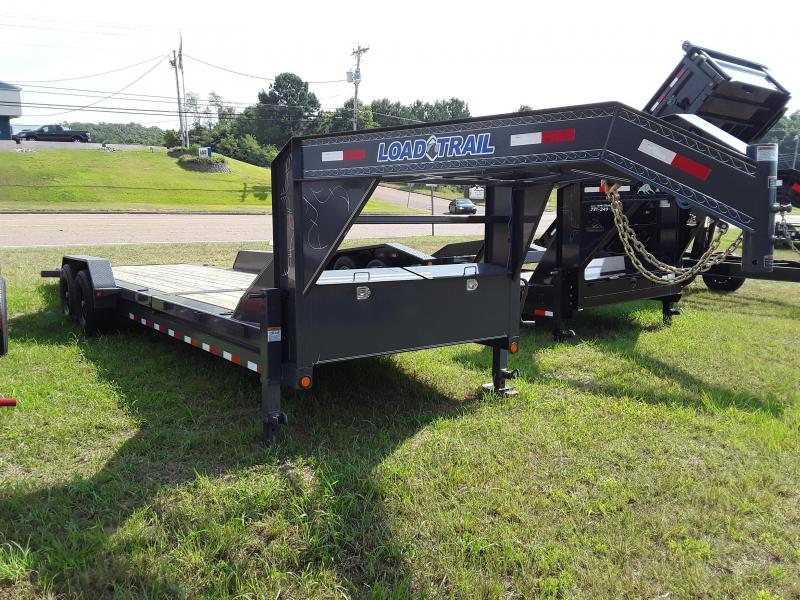 "2018 Load Trail 83"" X 24' Tilt-n-go Gooseneck Tandem Axle Equipment Trailer in Sherman, MS"