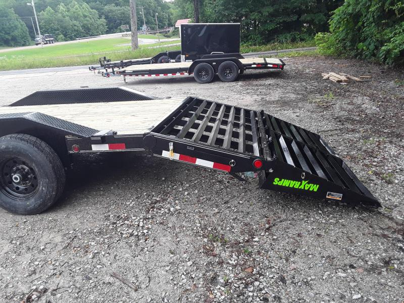 """2019 Load Trail 102"""" X 24'  Equipment Trailer W 2 7000 Lb Axles and Max Ramps"""