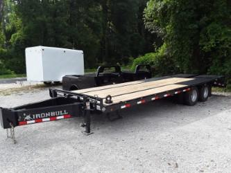 2018 Iron Bull PINTLE LOW PRO 102 X 25 2-10K AXLES Equipment Trailer in Belmont, MS