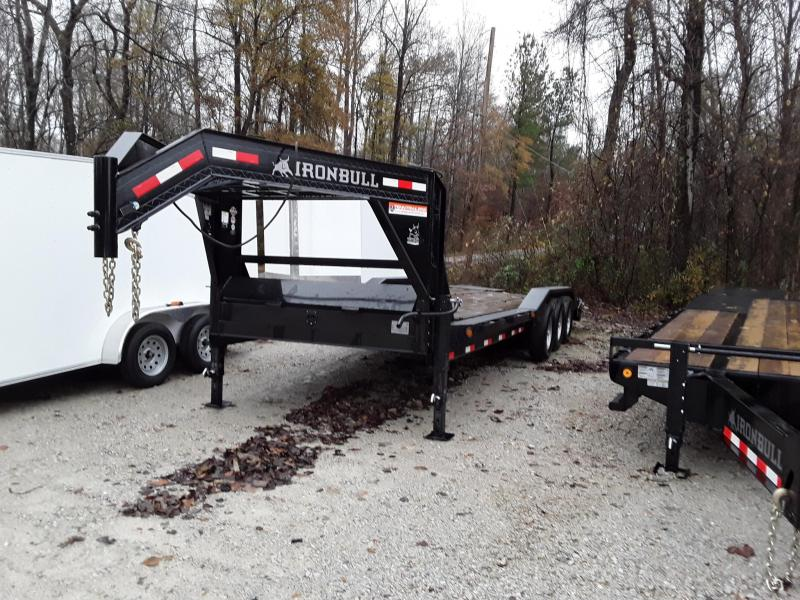 "2018 Used Iron Bull Flatbed Trailer 102"" X 26' W 3 7000 Lb Axles and Max Ramps"
