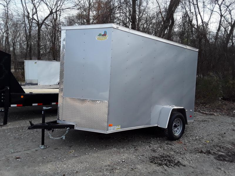 2019 Covered Wagon Trailers 6X10 SA Gold V Nose Enclosed Cargo Trailer
