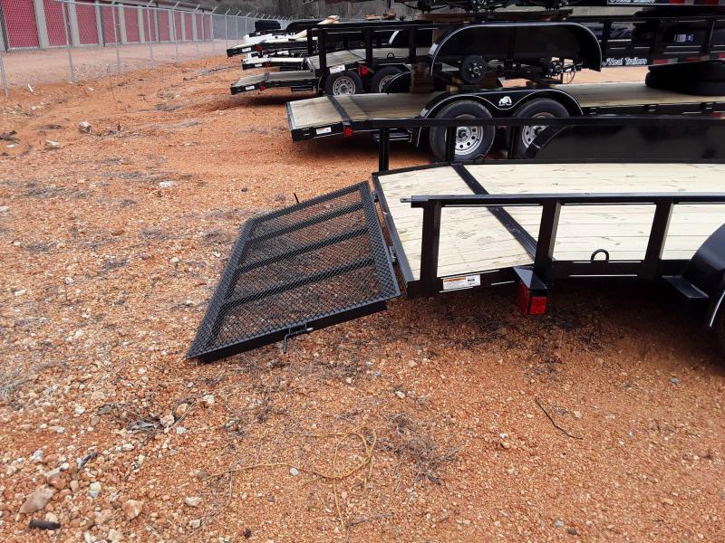"2019 O Neal 6'4"" X 16' Utility Trailer  W 2 3500 lb Axles & Brakes on one Axle"