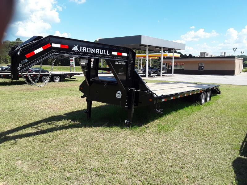 2018 Iron Bull GOOSENECK LOW PRO 102 X 30 2-12K AXLES Flatbed Trailer