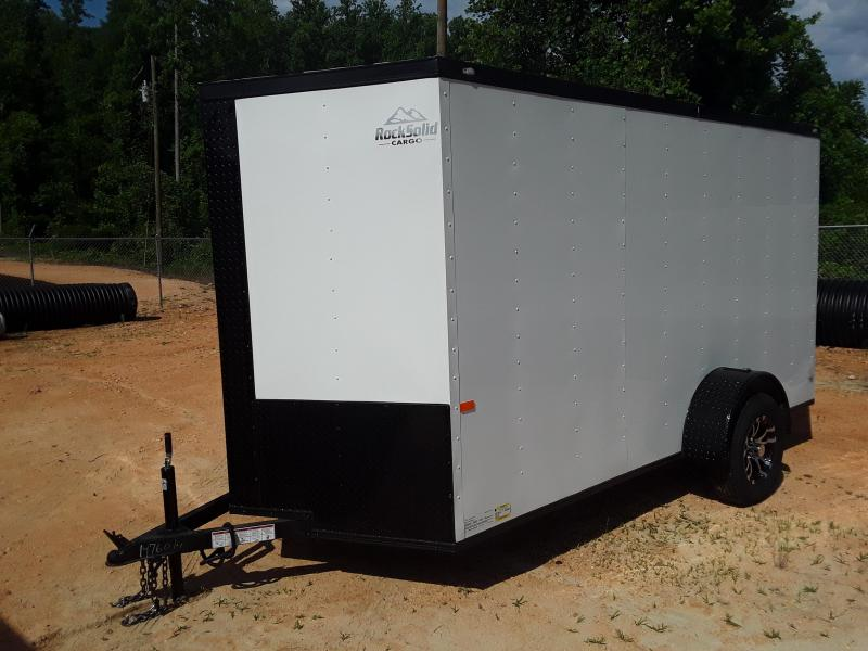 2019 Rock Solid Cargo 6' X 12' Single Axle Enclosed Cargo Trailer W Blackout Package