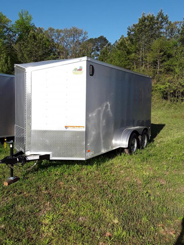 Covered Wagon 7'x14' Enclosed Trailer Silver
