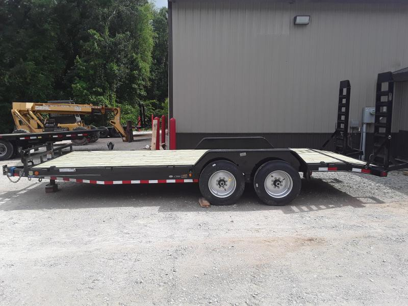 "2019 Load Trail 83"" X 20'  Equipment Trailer W 2 8000 Lb Axles and Solid Steel Custom Wheels"