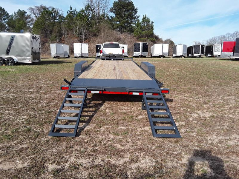 "2019 Lamar Trailers 83"" X 22' 14K Equipment Trailer W/ Stand Up Ramps"