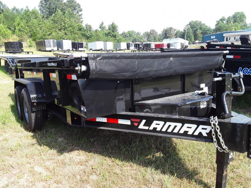 "2020 Lamar Trailers 83"" X 16' LOW-PRO DUMP 14K Dump Trailer"