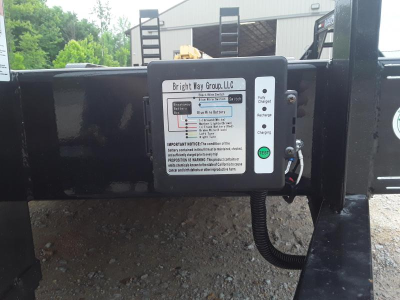 "2019 Load Trail 83"" X 22'  Equipment Trailer W 2 8000 Lb Axles and Custom Solid Steel Wheels"