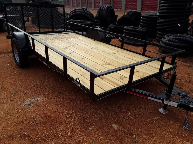 2018 O Neal 6 4 X 14 With 2' Dove and 3' Gate Utility Trailer
