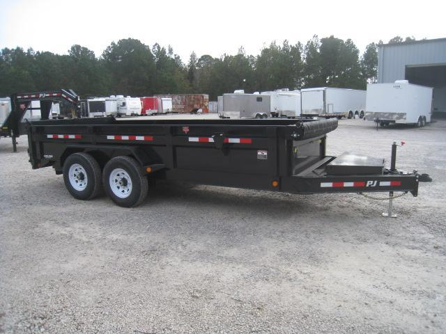 2019 PJ Trailers DL 16 x 83 Low Pro Dump Trailer with Tarp