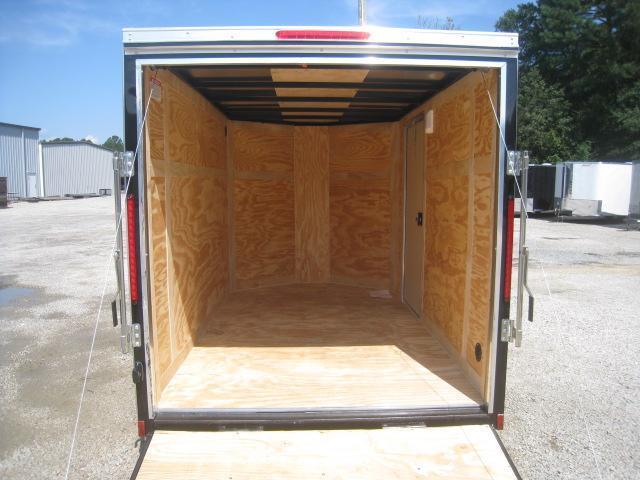 2019 Look Trailers Element 6x10 Vnose Enclosed Cargo Trailer in Black with Ramp Door