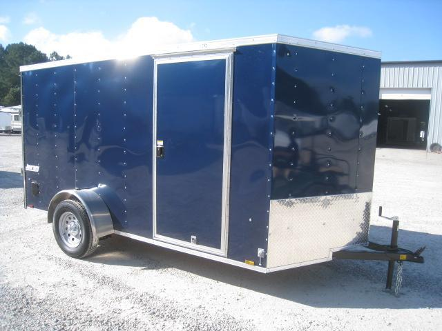 2019 Pace American Journey 6x12 Vnose Enclosed Cargo Trailer in Blue in Pinebluff, NC