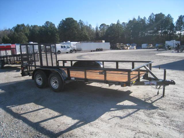 2018 Texas Bragg Trailers 16P Utility Trailer with Reinforced Rear Gates