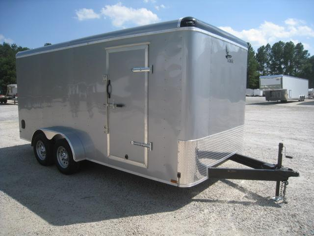 2019 Lark 7 X 16 Motorcycle Trailer with Finished Interior