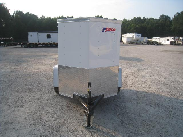 2019 Pace American Journey 4x6 Vnose Enclosed Cargo Trailer with Swing Open Door
