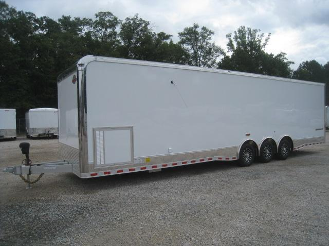 2019 Cargo Mate Aluminum Eliminator 34 Car / Racing Trailer Loaded