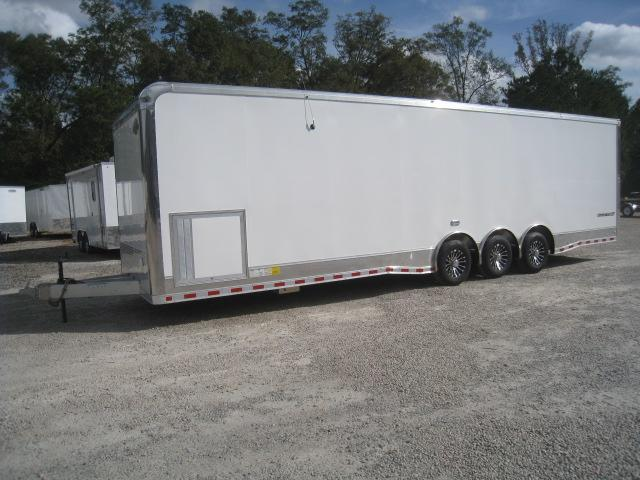 2019 Cargo Mate Aluminum Eliminator 32 Car / Racing Trailer