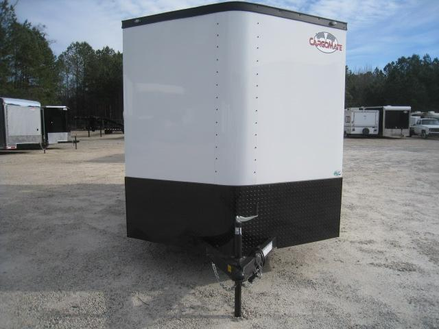 2019 Continental Cargo Sunshine 7x16 Vnose Enclosed Cargo Trailer White with Blacked Out Trim