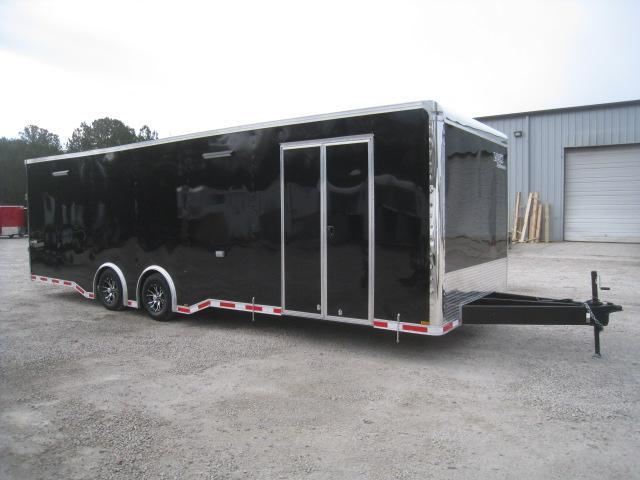 2019 Look Trailers Vision 28' Black Loaded Car / Racing Trailer