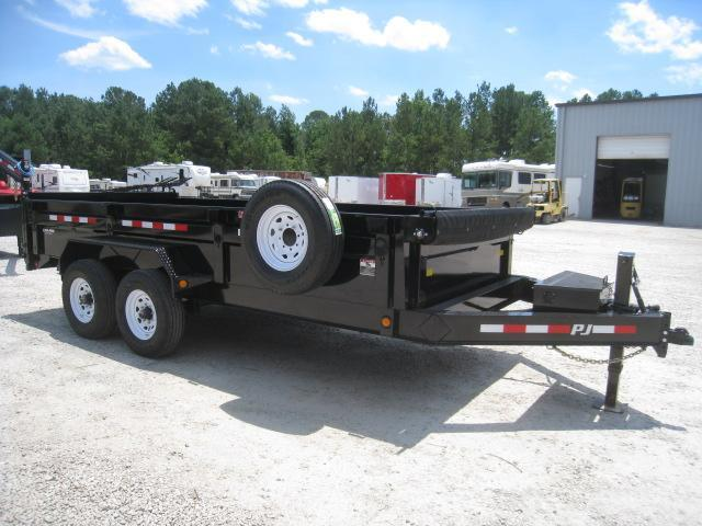 "2020 PJ Trailers DL 16' X 83"" Low Pro Dump Trailer"
