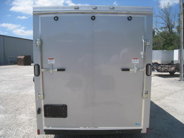 2019 Continental Cargo Sunshine 6x12 Vnose Silver Enclosed Cargo Trailer
