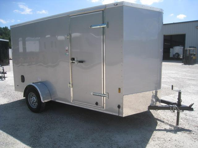 2019 Continental Cargo Sunshine 6x12 Vnose Silver Enclosed Cargo Trailer