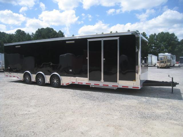 2019 Pace American Shadow 32' Race Trailer in Black