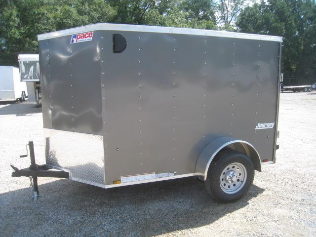 2019 Pace American Journey 5x8 Vnose Enclosed Cargo Trailer with Ramp Door