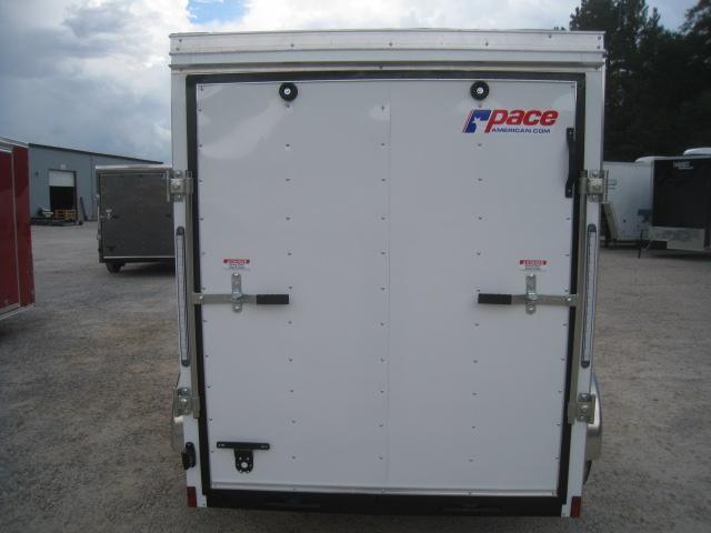 2019 Pace American Journey 5x8 Vnose Enclosed Cargo Trailer with Side Door and Ramp Door
