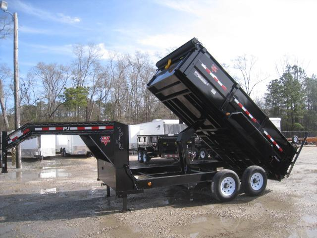 "2019 PJ Trailers DM 14' X 83"" Gooseneck 36"" High Side Dump Trailer"
