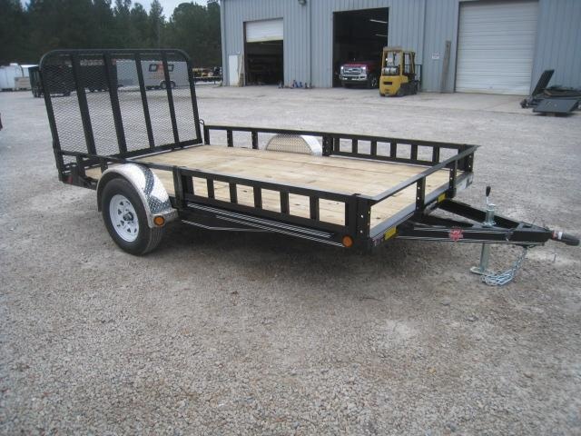 2019 PJ Trailers U8 83 x 12 Utility Trailer with ATV Ramps and Rear Gate