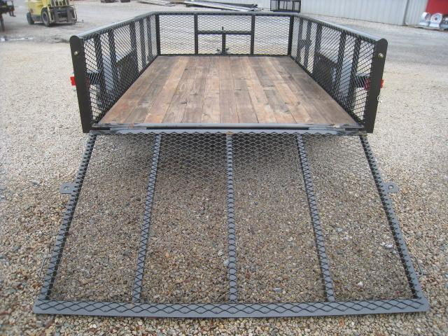 """2018 Texas Bragg Trailers 6x10P Utility Trailer with 24"""" Expanded Metal Sides"""