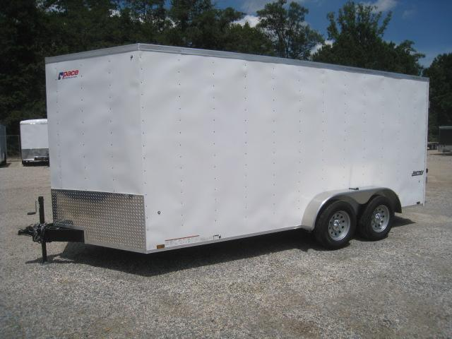 2019 Pace American Journey 7x16 Vnose Enclosed Cargo Trailer with Double Rear Doors