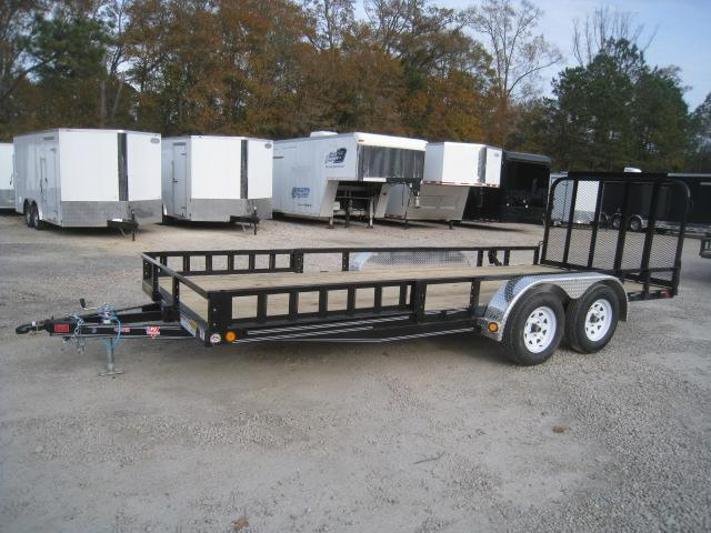 2019 PJ Trailers UL 83 X 18 Utility Trailer with Rear Gate and ATV Ramps
