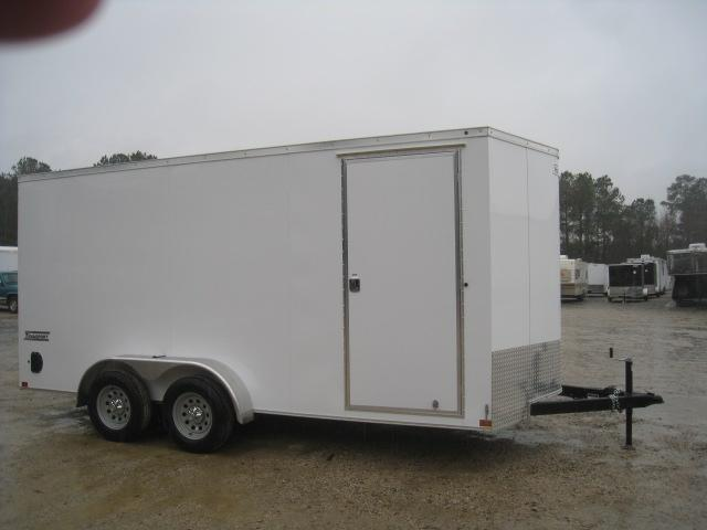 2019 Haulmark Transport Vnose 7 x 16 Enclosed Cargo Trailer with 7' Inside Height