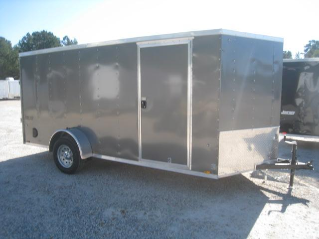 2019 Pace American Journey 6x14 Vnose Charcoal Enclosed Cargo Trailer