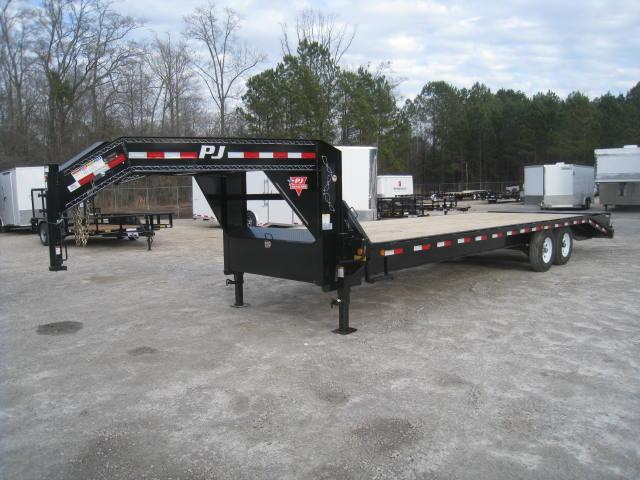 2018 PJ Trailers FS 28' Deckover Equipment Trailer with 7k Dexter Axles and Monster Ramps