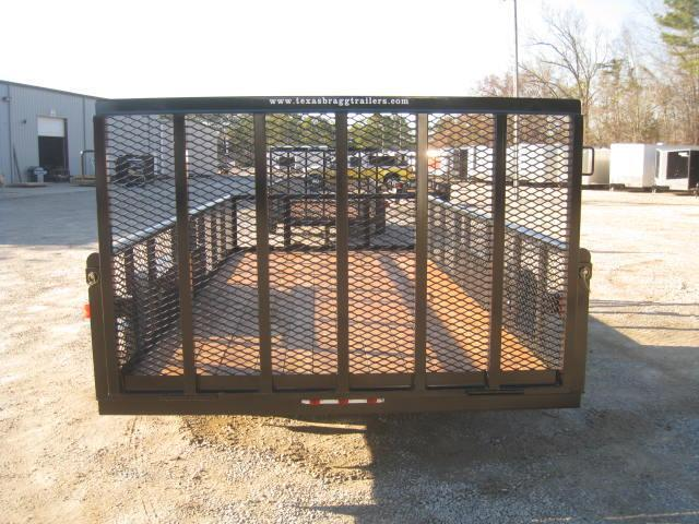 2018 Texas Bragg Trailers 16P Utility Trailer with Reinforced Rear Gate