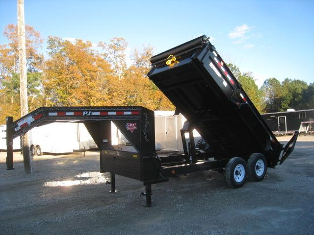 2019 PJ Trailers DL 14 X 83 Gooseneck Dump Trailer with Tarp